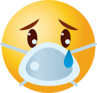 Sad emoji mask