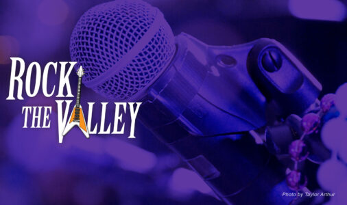 Rock the Valley event card purple mic image